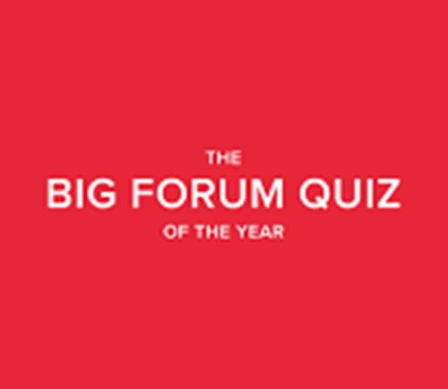 Big Forum Quiz of the Year